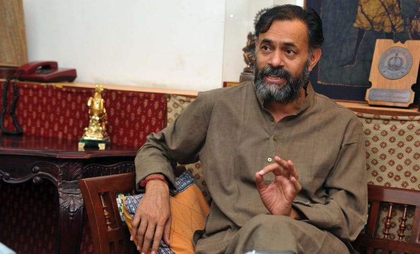 Yogendra Yadav. Firstpost/Naresh Sharma