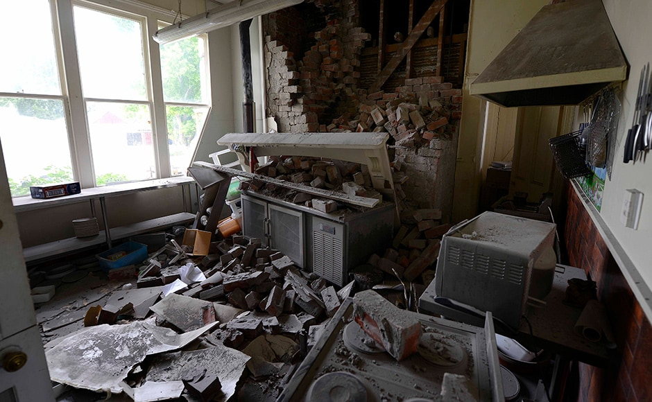 The quake of magnitude 7.8, caused damage in Waiau in Canterbury (above: Waiau Lodge Hotel). It was also strongly felt in Wellington, the capital and in the city of Christchurch. Residents said the shaking went on for about three minutes. Getty images