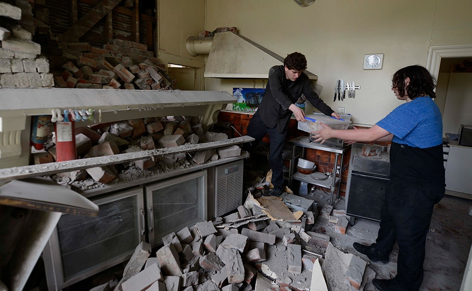 For residents living through the tremor, particularly those who survived the Christchurch disaster, it was a terrifying experience. In Wellington, it collapsed a ferry loading ramp, broke windows and caused items to fall from shelves. Getty images