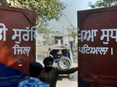Rapid Action Force men at Nabha Central Jail, which was stormed by armed men. PTI