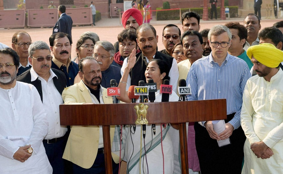 """The newly launched demonetisation scheme is a financial calamity. Government should restore normalcy as there is no vegetable, milk in the market. It's a big black scheme,"" the West Bengal chief minister said while addressing media after meeting President Pranab Mukherjee. PTI"
