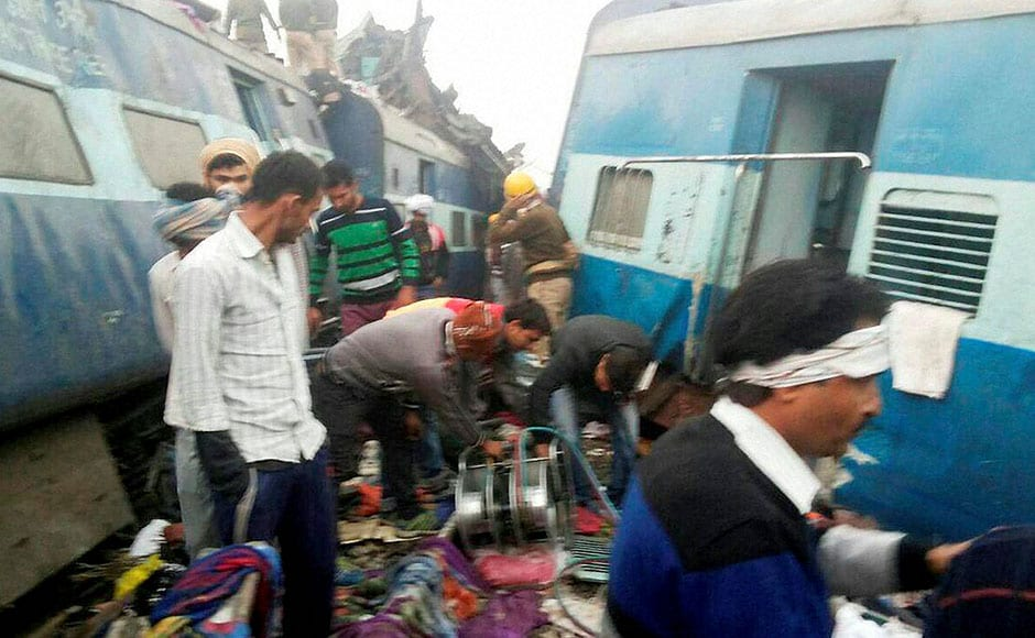 """Railway Minister Suresh Prabhu ordered an inquiry into the accident. """"Enquiry team will start investigation for cause of accident immediately. All necessary assistance provided to the affected, We are taking care,"""" Prabhu tweeted. PTI"""