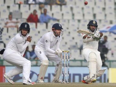 Parthiv Patel in action during India's second innings. AP