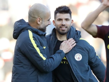 Pep Guardiola will rely on his star striker Sergio Aguero during Manchester City's clash against Chelsea. AP