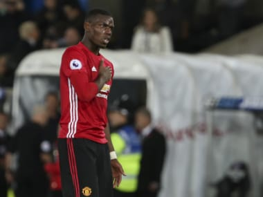 Pogba has endured a shaky start to his Manchester United return. AFP