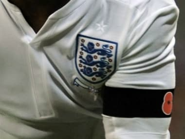 File image of the symbolic armband worn by England players. Reuters