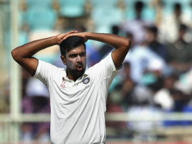 Ravichandran Ashwin bowled eight overs and conceded 12 runs without getting a wicket in the first session. AP