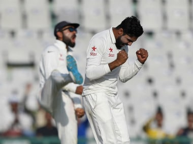 Ravindra Jadeja celebrates the dismissal of Jos Buttler. AP