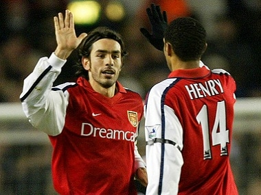 Robert Pires and Thierry Henry formed a formidable pair at Arsenal and with France. Reuters