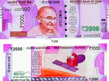 The new Rs 2,000 note. PTI