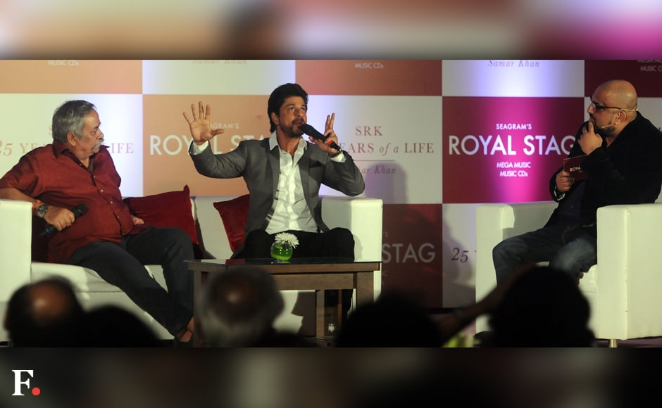 SRK discusses his career for 25 years with animated anecdotes. Sachin Gokhale/Firstpost