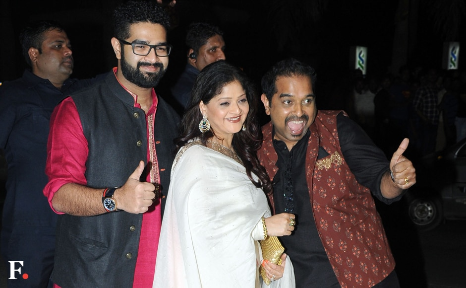 Shankar Mahadevan with his wife and son Siddharth. Image by Sachin Gokhale/Firstpost