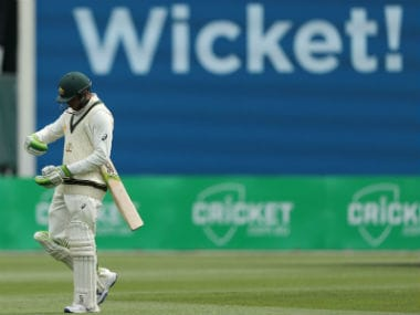 Usman Khawaja walks dejectedly back to the pavilion during the second Test at Hobart. Getty Images