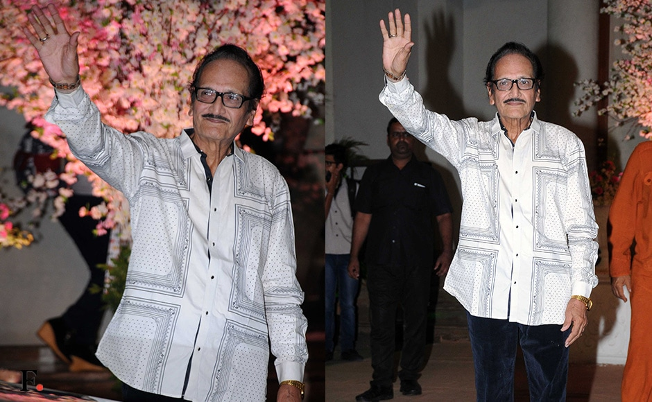Vishwajeet arrives at the reception. Sachin Gokhale/Firstpost
