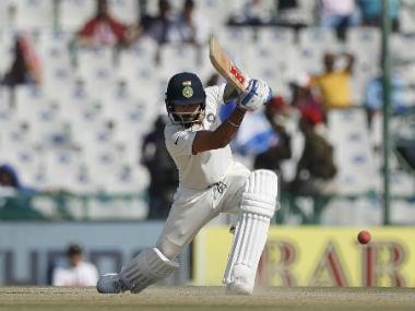 Virat Kohli in action on Day 2. AP