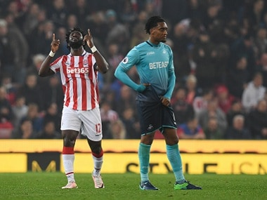 Premier League: Wilfried Bony brace helps Stoke City sink former club Swansea