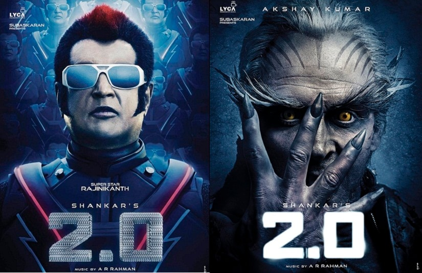 Rajinikanth and Akshay Kumar's 'looks' in '2.0' were recently unveiled in Mumbai. '2.0' follows from (although it may not be a direct sequel to) 2010's 'Enthiran/Robot'