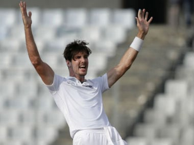 Steven Finn appeals during the second Test against Bangladesh in Dhaka last month. AP
