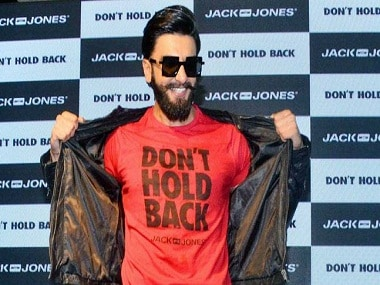 Ranveer Singh at the launch of the `Don't Hold Back' campaign of Jack and Jones