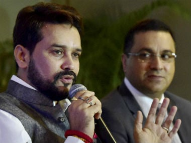 The SC came down hard on BCCI president Anurag Thakur (L). PTI