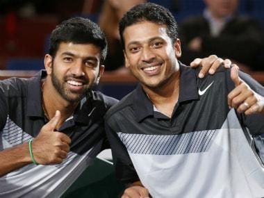 File photo of Mahesh Bhupathi (R) and compatriot Rohan Bopanna. Reuters
