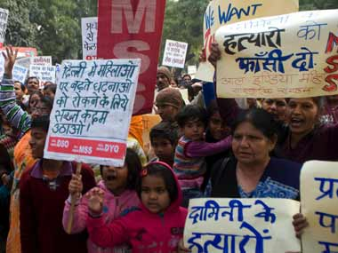 File image of protests following the December 2012 gangrape in Delhi. Firstpost/Naresh Sharma