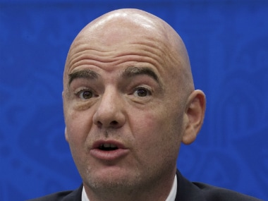 File photo of Fifa president Gianni Infantino. AP