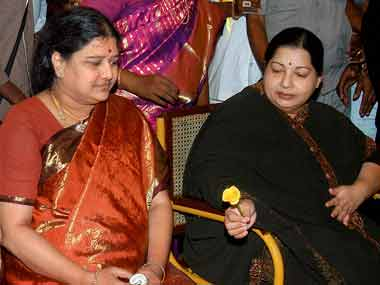 Sasikala and J Jayalalithaa. File photo. PTI