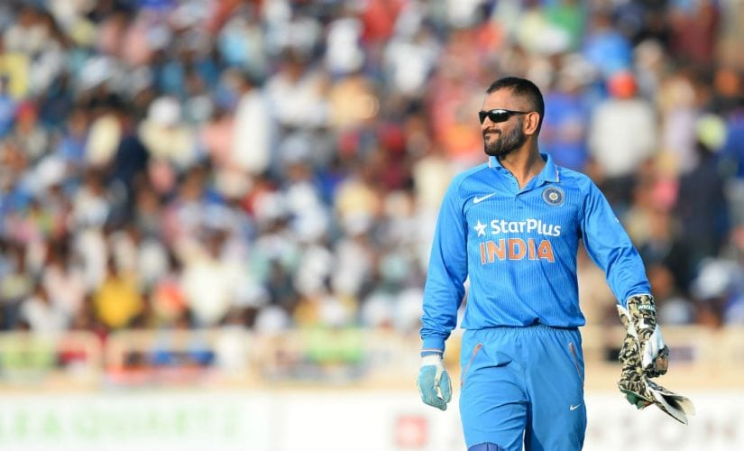 MS Dhoni during India's ODI against New Zealand in Ranchi. AFP