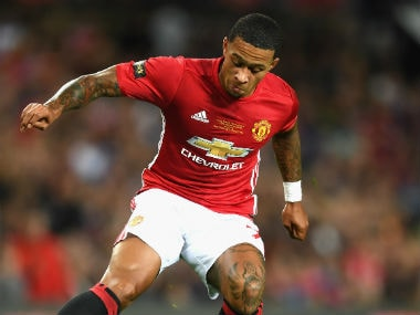 File photo of Manchester United's Memphis Depay. Getty Images