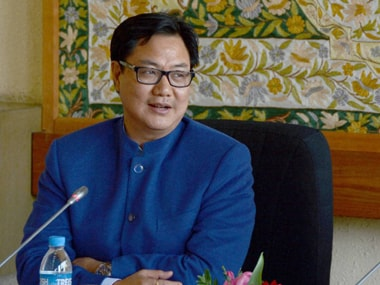 Minister of State for Home Kiren Rijiju. File photo. PTI