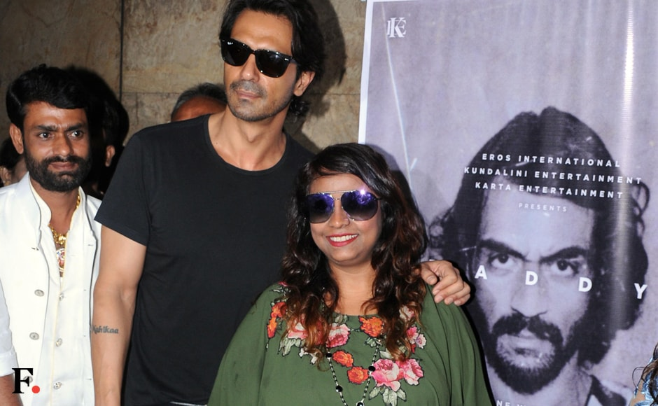 Bollywood actor Arjun Rampal with Arun Gawli's (gangster turned politician) daughter Geeta Gawli during the special screening of the teaser of film Daddy in Mumbai. Sachin Gokhale/Firstpost