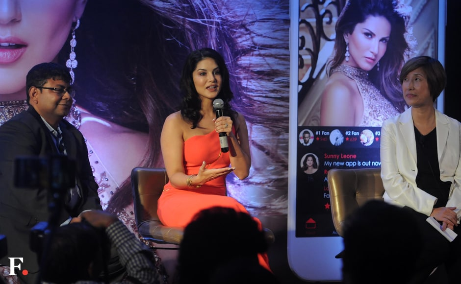 Bollywood Actress Sunny Leone launched her new mobile app on Wednesday which will open the doors for her fans to her social media handles -- be it Facebook, Instagram, Twitter or YouTube. Sachin Gokhale/Firstpost
