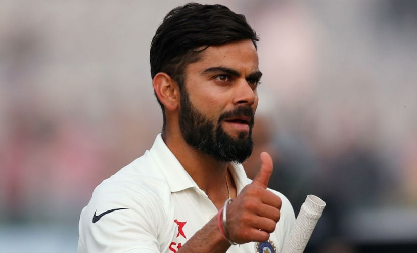 Virat Kohli during India's 3rd Test match against England in Mohali. Reuters