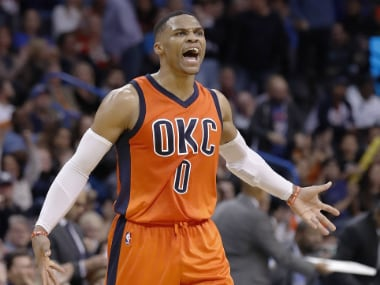 NBA roundup: Russell Westbrook's 42-point play carries Thunder; Cavaliers down Bucks