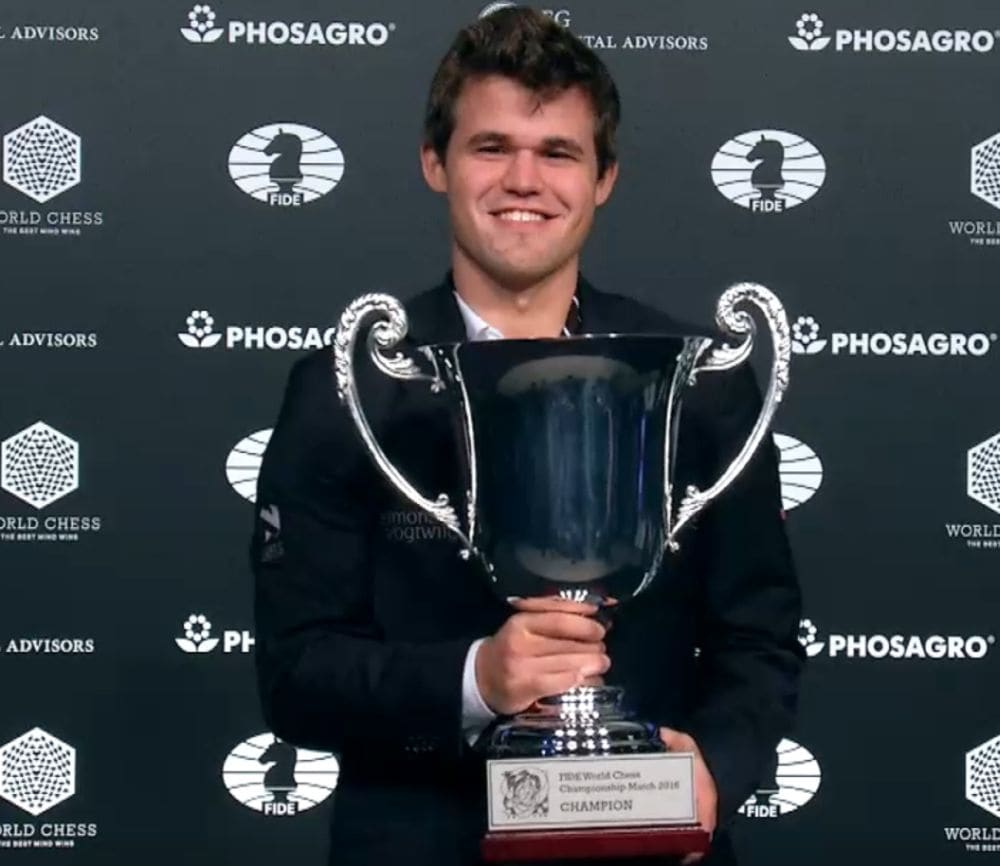 Magnus became the World Champion for the third consecutive occasion and went back home with the winner's cheque of 55% of the total prize fund of one million euros