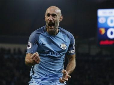 File photo of Manchester City's Pablo Zabaleta. Reuters