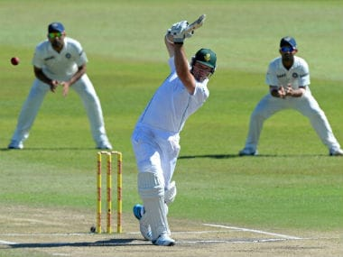 Action between South Africa and India during Day 5 of the 2nd Test in Durban. Getty Images