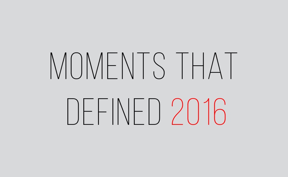 One cannot deny that 2016 was a year of shocks and surprises. Here are some of the most memorable moments from 2016 that redefined history