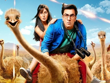 Jagga Jasoos poster is out: Ranbir Kapoor, Katrina Kaif and an ostrich star in this 'first look'