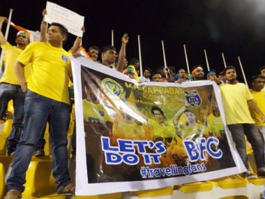 The Manjappada Fan Club have left an impression on the league. Image courtesy: Facebook/Manjappada Fan Club