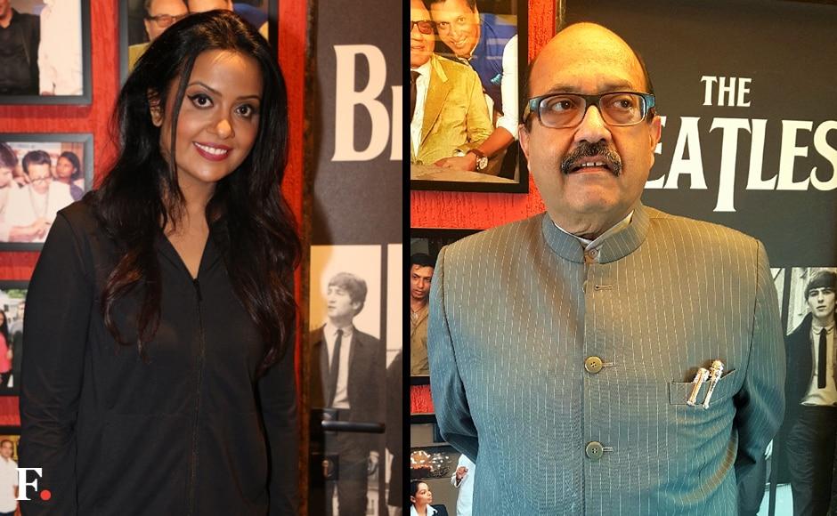 Devendra Fadnavis's wife Amruta Fadnavis; Amar Singh. Sachin Gokhale/Firstpost