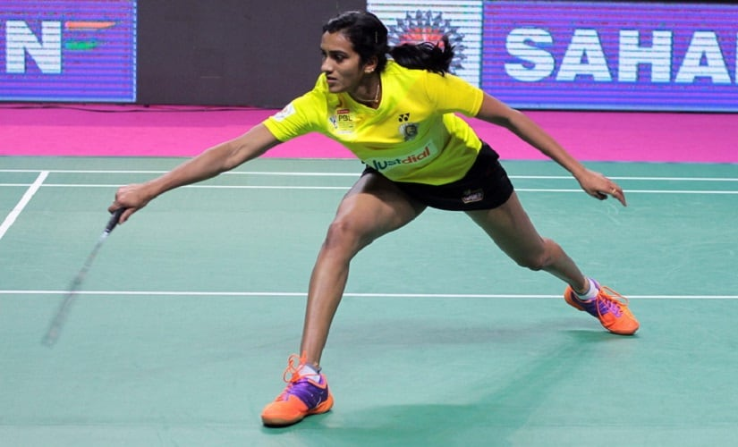 PV Sindhu of the Chennai Smashers in action in PBL. Image courtesy: pbl-india.com
