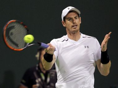 Andy Murray in action. Reuters