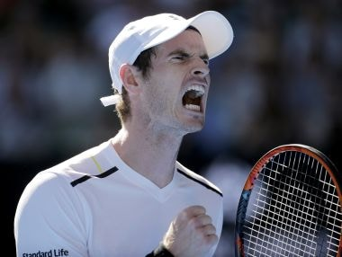 Andy Murray yells out while playing Illya Marchenko in their first round match at the Australian Open. AP
