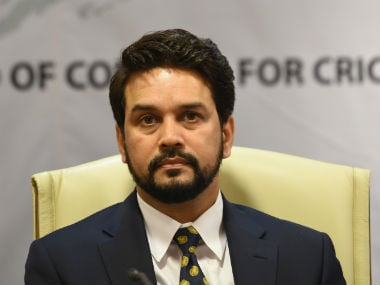 File photo of Anurag Thakur. AFP
