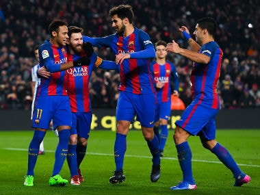 Barcelona eased into the semi-finals of the Copa del Rey for a seventh consecutive season. AFP