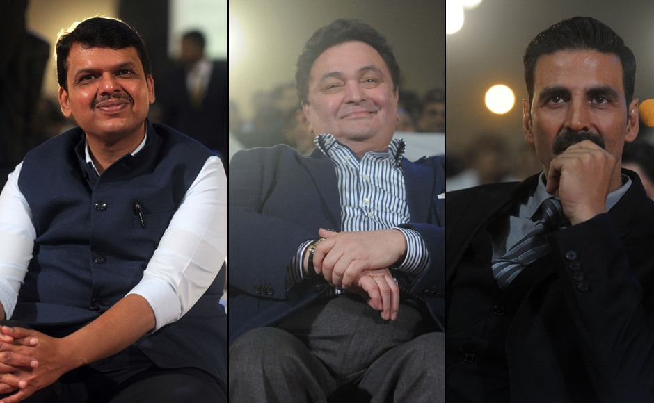 Umang, the Mumbai Police.s annual cultural extravaganza was well-attended by the who's who of the Hindi film industry. Seated in the front row were Chief Minister Devendra Fadnavis, Rishi Kapoor and Akshay Kumar. Photos by Sachin Gokhale/Firstpost