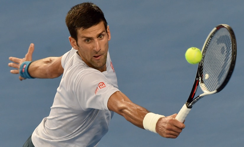 Novak Djokovic is looking to become the first man to hold seven Australian Open trophies. AFP
