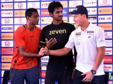 Players at the draw ceremony of the Chennai Open.